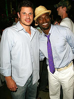 GUYS' NIGHT OUT photo | Nick Lachey, Taye Diggs