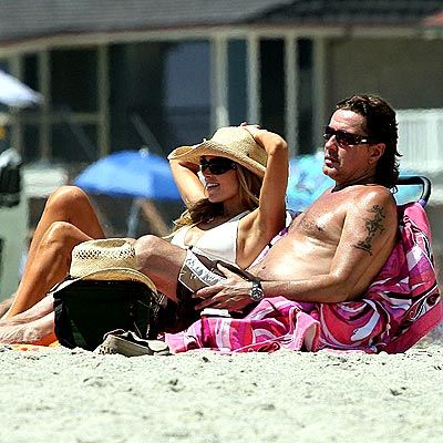 A DAY AT THE BEACH photo | Denise Richards, Richie Sambora