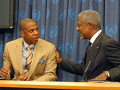 MEN ON A MISSION photo | Jay-Z, Kofi Annan