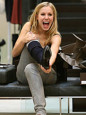 IF THE SHOE FITS... photo   Kristen Bell