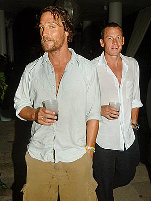 THE CREW photo | Lance Armstrong, Matthew McConaughey