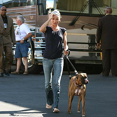 Photo of Cameron Diaz & her Dog Rocky