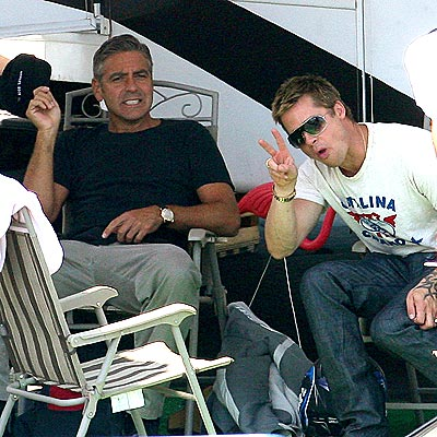 AND...CUT! photo | Brad Pitt, George Clooney