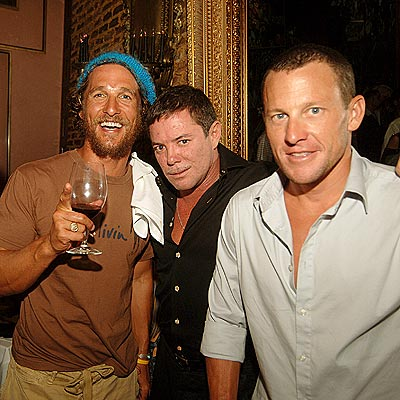 FRAT-TASTIC PARTY photo | Lance Armstrong, Matthew McConaughey, Sharif Malnik