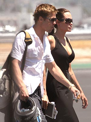 SMOOTH LANDING  photo | Angelina Jolie, Brad Pitt