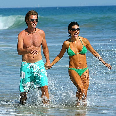 MAKING A SPLASH  photo | Harry Hamlin, Lisa Rinna