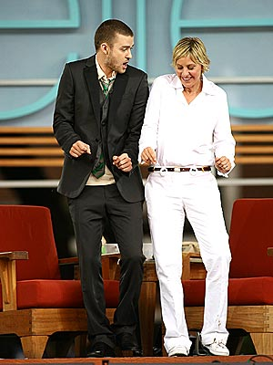 ALL THE RIGHT MOVES  photo | Ellen DeGeneres, Justin Timberlake