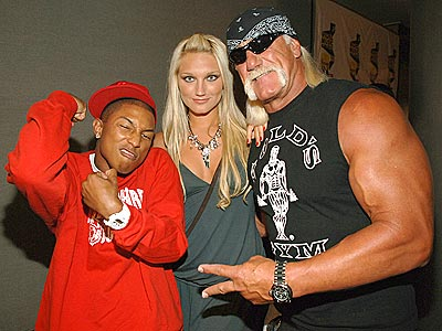 MUSCLING IN photo | Brooke Hogan, Hulk Hogan, Pharrell Williams