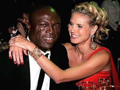 HAVING A BALL  photo | Heidi Klum, Seal