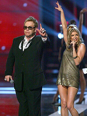THE KNIGHT & 'THE DUTCHESS'  photo | Elton John, Fergie