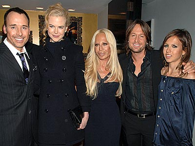 DINING WITH THE STARS  photo | David Furnish, Donatella Versace, Keith Urban, Nicole Kidman