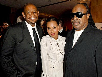 ISN'T SHE LOVELY?  photo | Forest Whitaker, Kerry Washington, Stevie Wonder