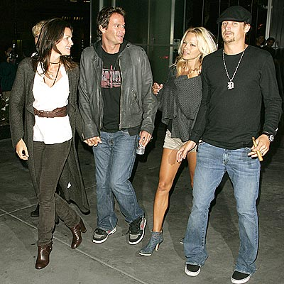 PARTY OF FOUR  photo | Cindy Crawford, Kid Rock, Pamela Anderson, Randy Gerber