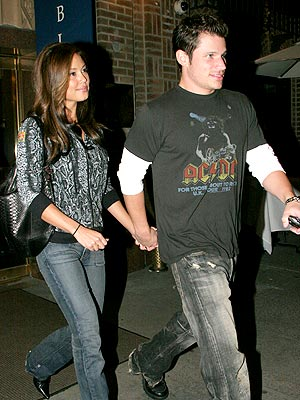 MAIN SQUEEZE  photo | Nick Lachey, Vanessa Minnillo