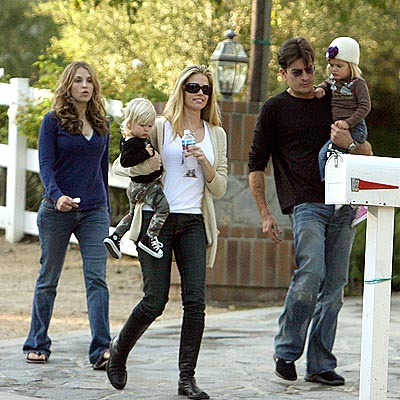 ALL IN THE FAMILY photo | Charlie Sheen, Denise Richards