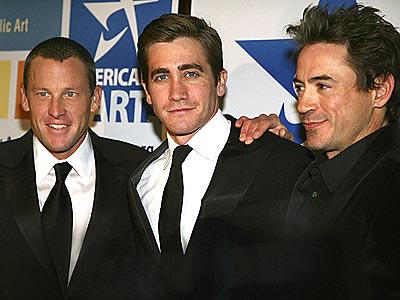 ART APPRECIATION photo | Jake Gyllenhaal, Lance Armstrong, Robert Downey Jr.