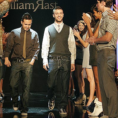 PROJECT RUNWAY  photo | Justin Timberlake, Trace Ayala