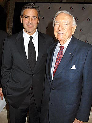 MUTUAL ADMIRATION  photo | George Clooney, Walter Cronkite