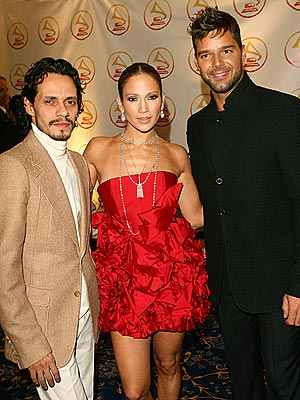 SINGING HIS PRAISES  photo | Jennifer Lopez, Marc Anthony, Ricky Martin