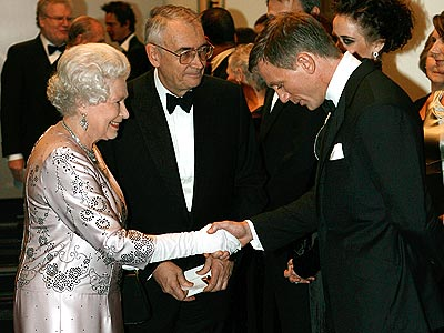 AT HER MAJESTY'S SERVICE  photo | Daniel Craig, Queen Elizabeth II