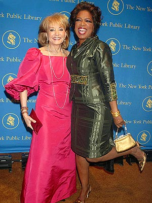 KICKING BACK  photo | Barbara Walters, Oprah Winfrey