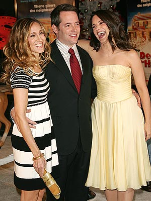 JINGLE ALL THE WAY  photo | Kristin Davis, Matthew Broderick, Sarah Jessica Parker