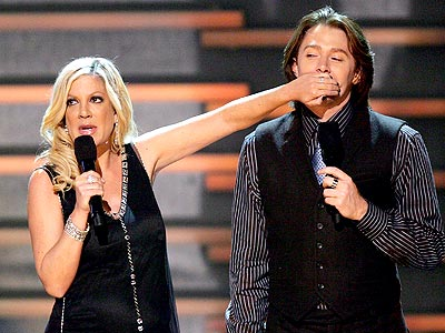 COMIC RELIEF photo | Clay Aiken, Tori Spelling