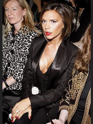Victoria Beckham 2009 Versace Fashion Show