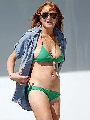 Lindsay Lohan In Thong