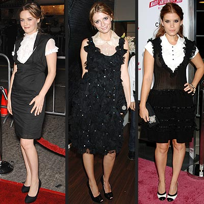 BIB-FRONT DRESSES photo | Alicia Silverstone, Kate Mara, Mischa Barton