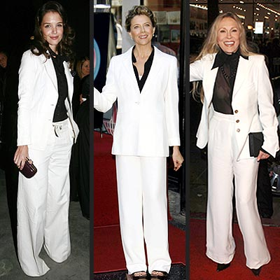 WHITE SUITS, BLACK SHIRTS photo | Annette Bening, Faye Dunaway, Katie Holmes