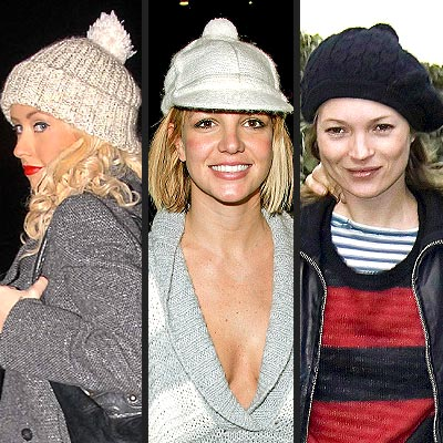 POM-POM HATS  photo | Britney Spears, Christina Aguilera