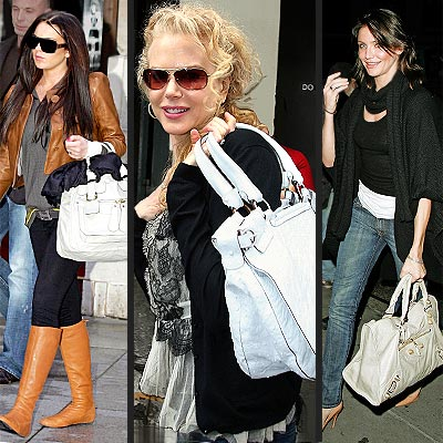 Looks to Love: Large White Handbags... Just Don't Get Them Dirty!