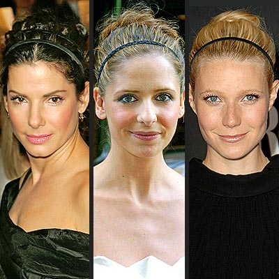 THIN BLACK HEADBANDS  photo | Gwyneth Paltrow, Sandra Bullock, Sarah Michelle Gellar
