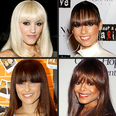 EXTREME BANGS photo | Alicia Keys, Gwen Stefani, Janet Jackson, Nelly Furtado