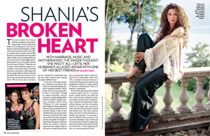 Shania&#39;s Broken Heart