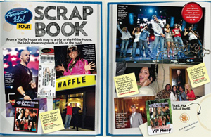 American Idol Tour Scrap Book