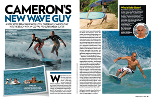 Cameron Takes to the Waves with a New Guy