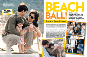 Famous Families Take to the Beach