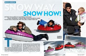 Brad & Angelina Snow Way, Snow How!