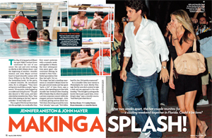 Jennifer Aniston & John Mayer Making a Splash!