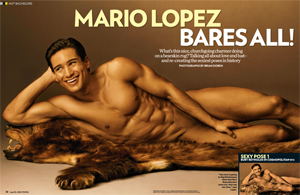 Mario Lopez Bares All!