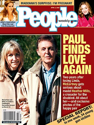 photo | Couples, Love Stories, Heather Mills Cover, Paul McCartney Cover, Heather Mills, Julia Roberts, Madonna, Paul McCartney