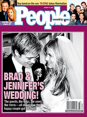 photo | 2000, Brad Pitt Cover, Celebrity Love Stories, Celebrity Wedding Albums, Jennifer Aniston Cover, Super-Couples, Brad Pitt, Chris Kirkpatrick, JC Chasez, Jennifer Aniston, Joey Fatone, Justin Timberlake, Kathie Lee Gifford, Lance Bass, Regis Philbin