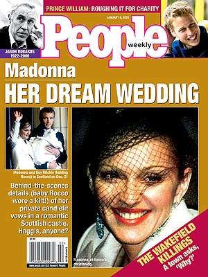 photo | Couples, Marriage, Weddings, 2000, 90s Music, Celebrity Wedding Albums, Madonna Cover, Guy Ritchie, Jason Robards, Madonna, Prince William