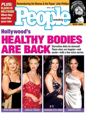 photo | Bodywatch, Celeb Curves, Catherine Zeta-Jones, Charlize Theron, Drew Barrymore, Jennifer Lopez, John Phillips