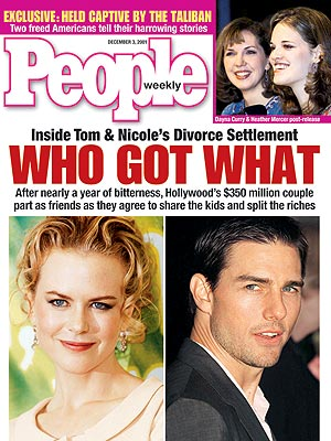 photo | Couples, Custody Battles, Divorced, Celeb Real Estate, Bills, Bills, Bills, Nasty Breakups and Divorces, Nicole Kidman Cover, Tom Cruise Cover, Real People Stories, Nicole Kidman, Tom Cruise