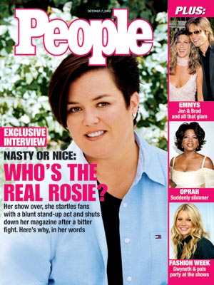 photo | 2000, Hairdos, Emmys on Covers, Rosie O'Donnell Cover, Brad Pitt, Gwyneth Paltrow, Jennifer Aniston, Oprah Winfrey, Rosie O'Donnell