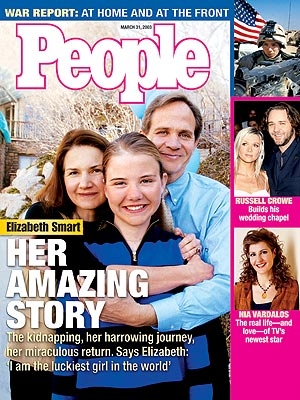 photo | Heroes Among Us, Kidnapping, War in Iraq, Elizabeth Smart Cover, Coping and Overcoming Illness, Danielle Spencer, Elizabeth Smart, Nia Vardalos, Russell Crowe