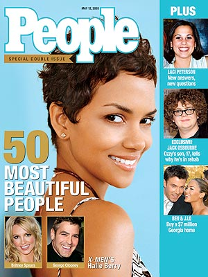 photo | X-Men, Hairdos, Halle Berry Cover, Most Beautiful on Covers, Ben Affleck, Britney Spears, George Clooney, Halle Berry, Jack Osbourne, Jennifer Lopez, Laci Peterson